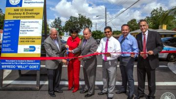 NW 33RD STREET ROADWAY IMPROVEMENT RIBBON CUTTING CEREMONY